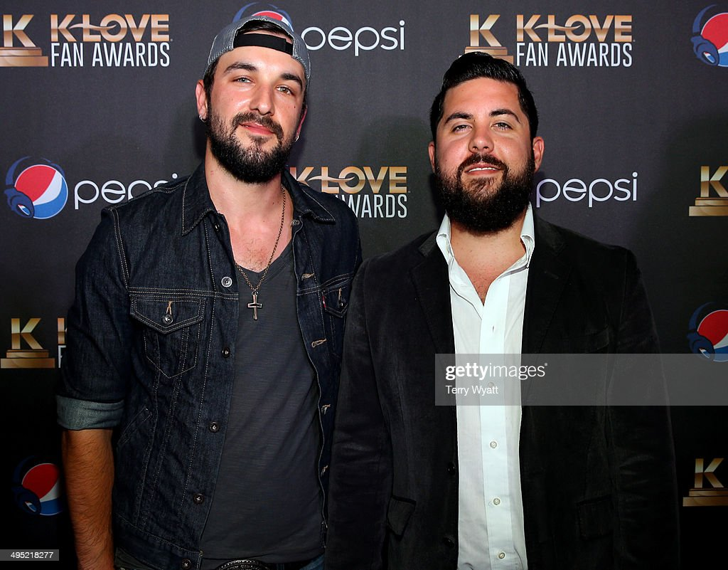 Rhett Walker Canipe and Kenny Davis of Rhett Walker Band attends the 2nd Annual KLOVE Fan Awards at the Grand Ole Opry House on June 1 2014 in...