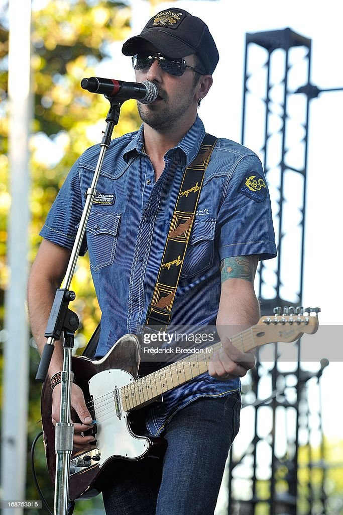 Rhett Walker performs at the GRAMMY Block Party at Owen Bradley Park on May 14 2013 in Nashville Tennessee