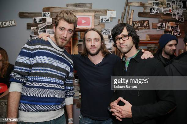 Rhett YouTube cofounder Chad Hurley and Link attend the YouTube on Main Street Party on January 18 2014 in Park City Utah