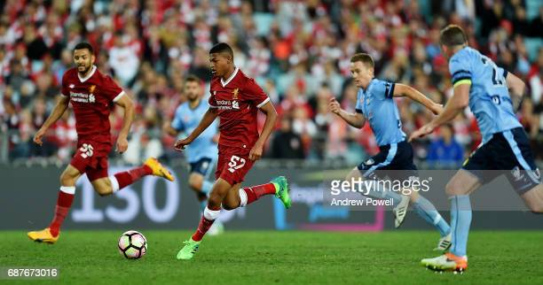 Rhian Brewster of Liverpool during the International Friendly match between Sydney FC and Liverpool FC at ANZ Stadium on May 24 2017 in Sydney...