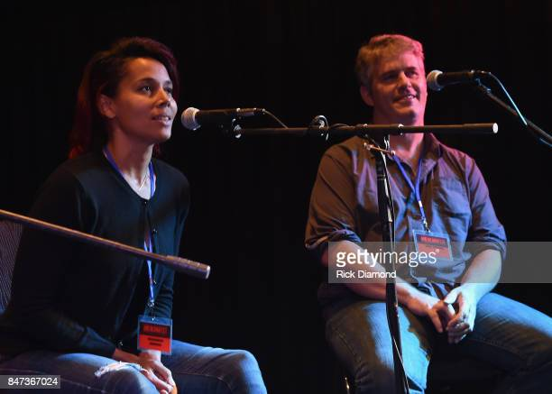 Rhiannon Giddens And Dirk Powell attend 18th Annual Americana Music Festival Conference Songwriter Workshop With Joe Henry Rhiannon Giddens And Dirk...