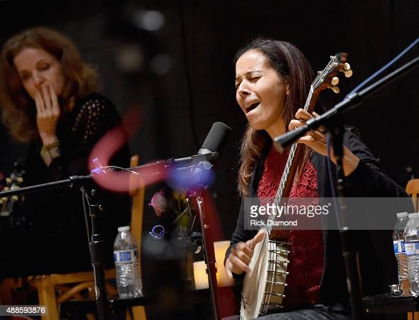 Rhiannon Giddens performs during the 16th Annual Americana Music Festival Conference Day 2 NPR hosts 'SONGS WE LOVE at RCA Grand Victor Studio A on...