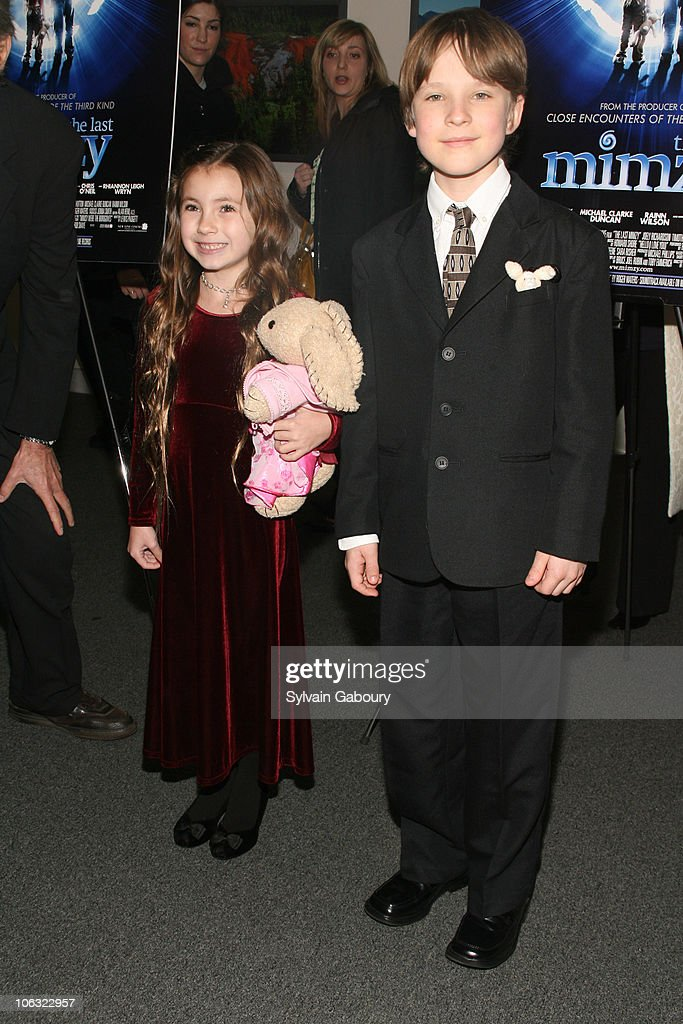 Rhiannon Leigh Wryn and Chris O'Neil during 'The Last Mimzy' New York Premiere Inside Arrivals at Museum Of Natural History in New York City New York...
