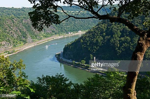 Rhine river loreley view