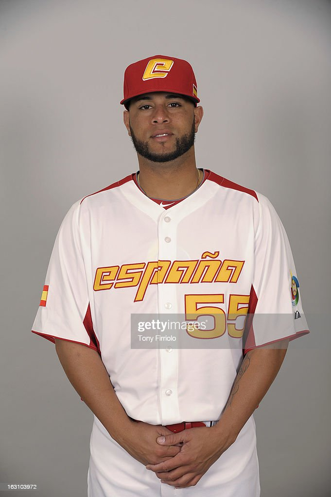 Rhiner Cruz #55 of Team Spain poses for a headshot for the 2013 World Baseball Classic on March 4, 2013 at McKechnie Field in Bradenton, Florida.