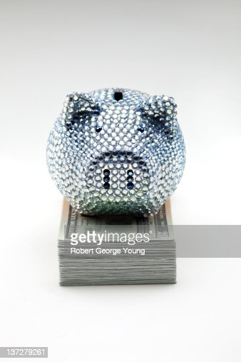 Rhinestone stock photos and pictures getty images - Rhinestone piggy bank ...