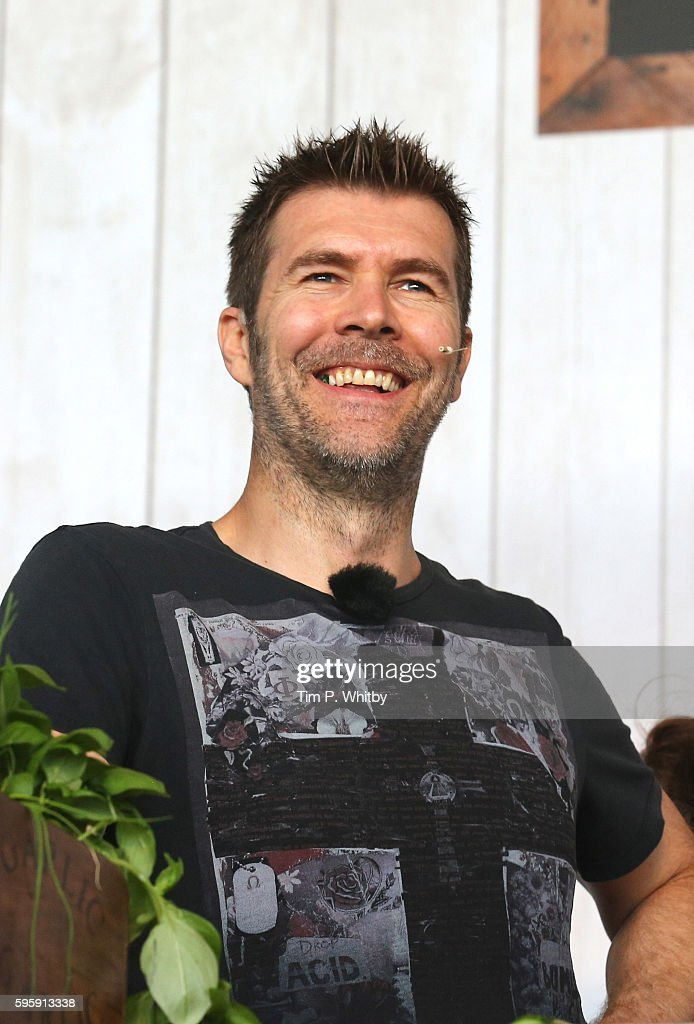 Rhod Gilbert attends the Neff Big Kitchen during The Big Feastival at Alex James' Farm on August 26 2016 in Kingham Oxfordshire
