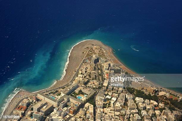 Veduta aerea dell'isola di Rodi