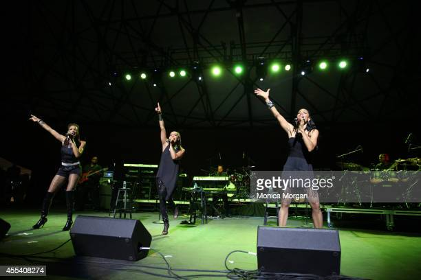 Rhona Bennett and Terry Ellis and Cindy Herron of En Vogue perform at Chene Park on August 31 2014 in Detroit Michigan