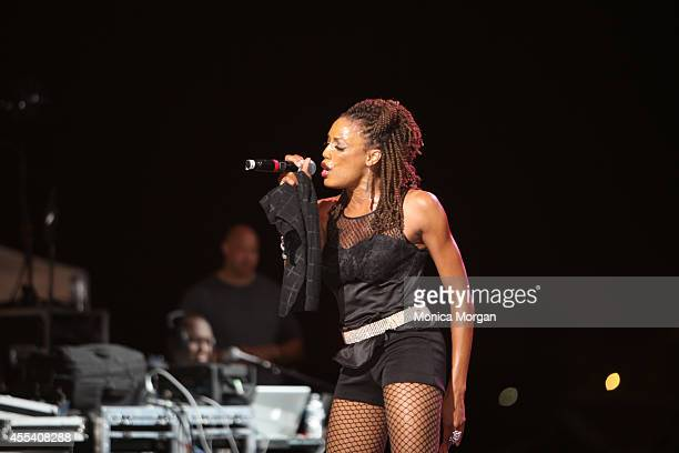 Rhona Bennett of En Vogue performs at Chene Park on August 31 2014 in Detroit Michigan