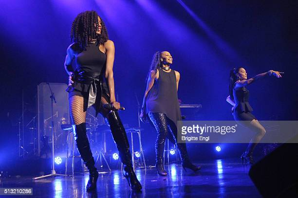 Rhona Bennett Terry Ellis and Cindy Herron of En Vogue perform at Indigo2 at The O2 Arena on March 1 2016 in London England