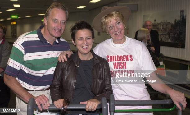 Rhona Cameron with Christine Hamilton the wife of former Tory MP Neil Hamilton at London's Heathrow Airport after returning from Australia where the...