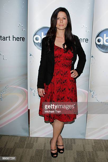 Rhona Mitra arrives to the Disney/ABC Television Group press junket held at the ABC Television Network Building on May 15 2010 in Burbank California