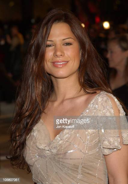 Rhona Mitra during 2004 Vanity Fair Oscar Party at Mortons in Beverly Hills California United States