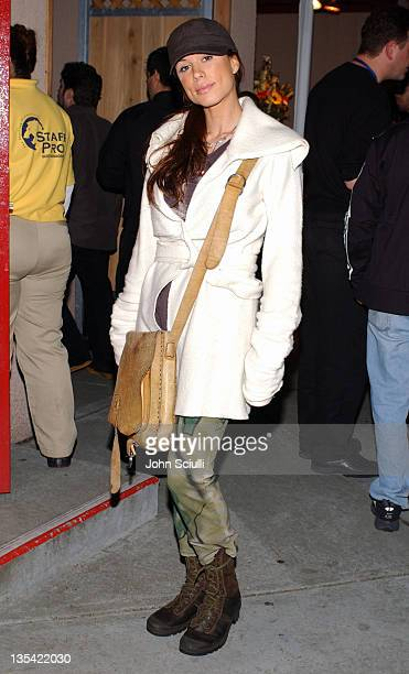 Rhona Mitra during KCRW Presents 'A Sounds Eclectic Evening' Headlined by Coldplay Backstage at Universal Amphitheater in Universal City California...