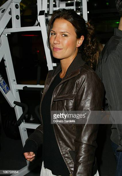 Rhona Mitra during Opening of the 1st Los Angeles Equinox Fitness Club to Benefit the Rainforest Foundation and Futureforests at Equinox Fitness Club...