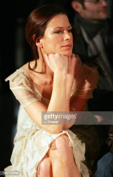Rhona Mitra during Red Carpet'05 Benefiting the Dream Foundation Fashion Show at Pacific Design Center in West Hollywood California United States