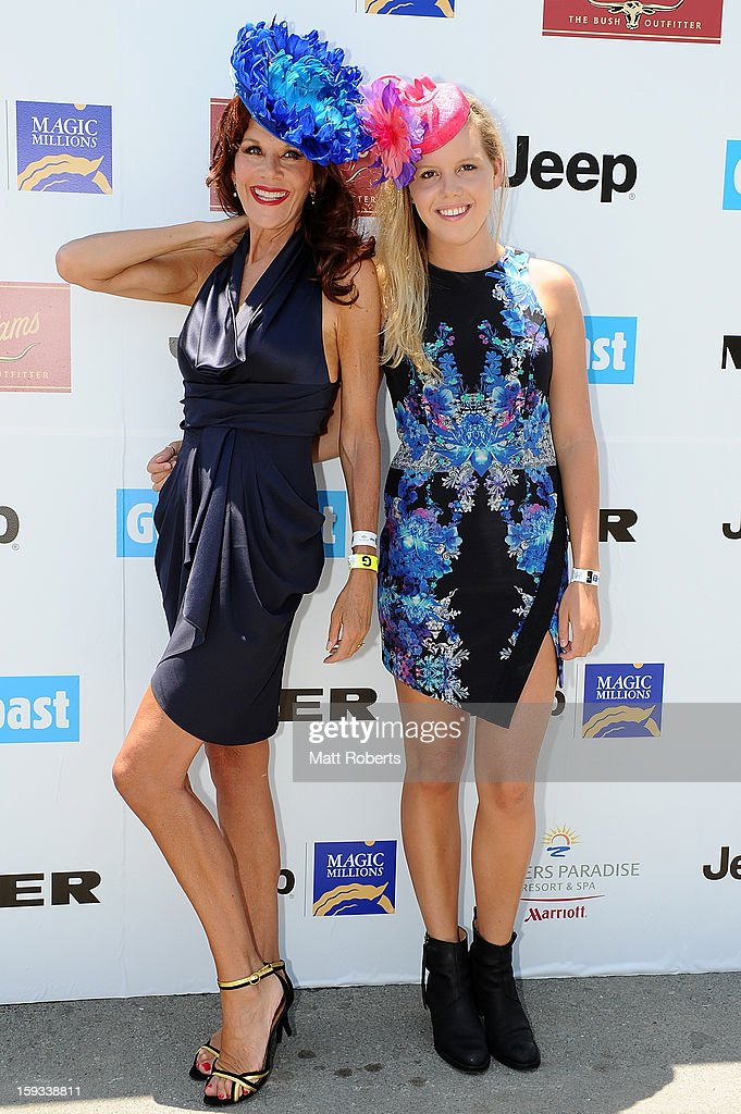 Rhonda and Lexie Burchmore attend Magic Millions Raceday at Gold Coast Turf Club on January 12, 2013 on the Gold Coast, Australia.