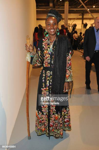 Rhonda Brown attends MOCA's Leadership Circle and Members' Opening of 'Carl Andre Sculpture as Place 19582010' and 'Arthur Jafa Love Is The Message...
