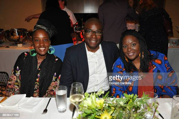 Rhonda Brown Seth Pickens and Isis Pickens attend MOCA's Leadership Circle and Members' Opening of 'Carl Andre Sculpture as Place 19582010' and...