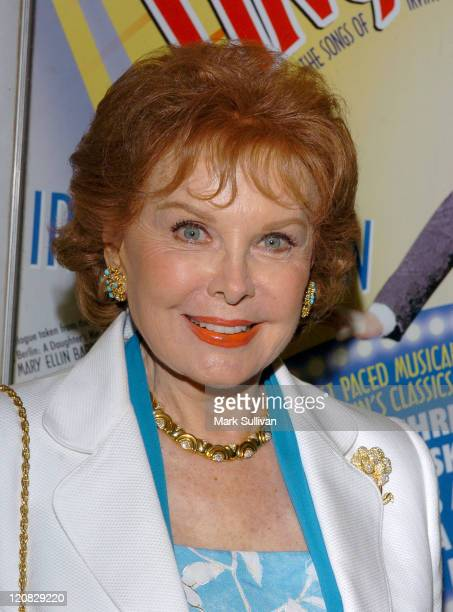 Rhonda Fleming during 'The Melody Lingers On' Los Angeles Opening Night at El Portal Theatre in North Hollywood California United States