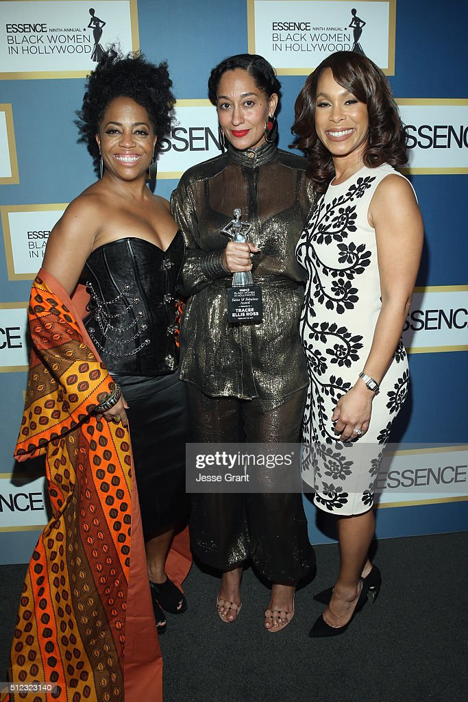 Rhonda Ross Kendrick, Tracee Ellis Ross, and SVP, Drama Development at ABC Studios Channing Dungey attend the 2016 ESSENCE Black Women In Hollywood awards luncheon at the Beverly Wilshire Four Seasons Hotel on February 25, 2016 in Beverly Hills, California.
