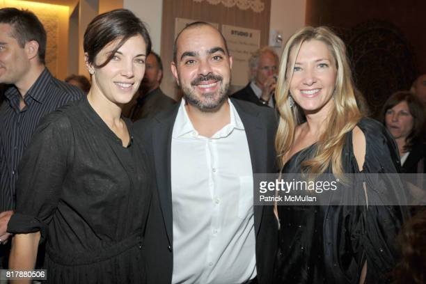 Rhonda Spevak Daniel Davidovich and Jodie Davidovich attend Launch and Celebration of Farmhearts at Pure Yoga on September 23 2010 in New York City