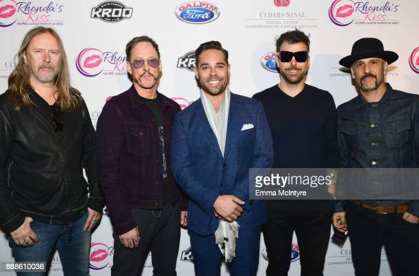 Rhonda's Kiss CEO Kyle Stefanski and Jerry Cantrell Scott Shriner Franky Perez and Dave Kushner of Hellcat Saints attend the 2017 Rhonda's Kiss...