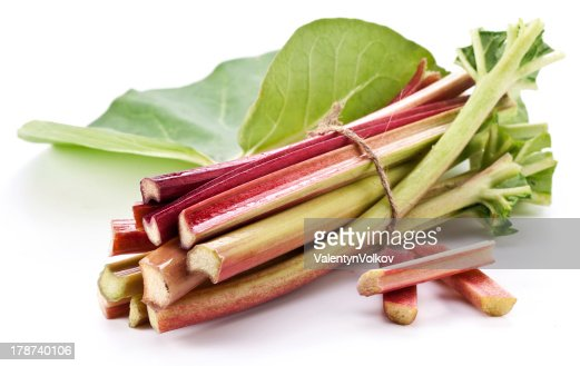 Rhubarb stalks. : Stock Photo