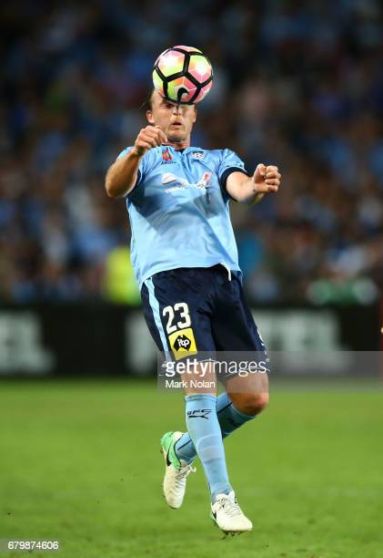 Rhyan Grant of Sydney FC controls the ball during the 2017 ALeague Grand Final match between Sydney FC and the Melbourne Victory at Allianz Stadium...