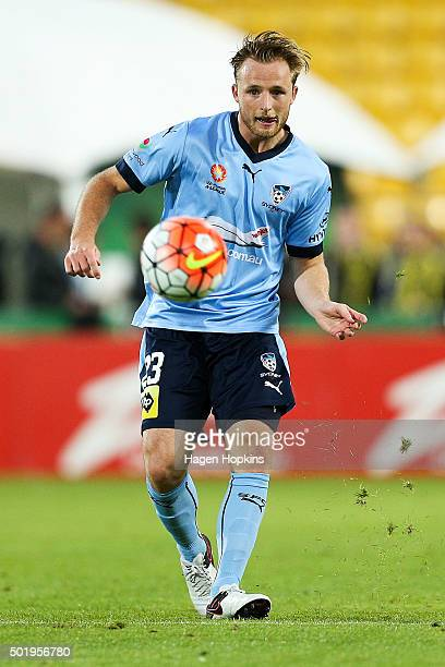 Rhyan Grant of Sydney FC in action during the round 11 ALeague match between the Wellington Phoenix and Sydney FC at Westpac Stadium on December 19...