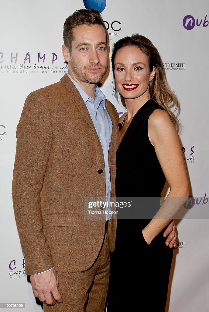 Rhys David Thomas and <a gi-track='captionPersonalityLinkClicked' href=/galleries/search?phrase=Catt+Sadler&family=editorial&specificpeople=754401 ng-click='$event.stopPropagation()'>Catt Sadler</a> attend the 'Bags To Benefit' charity evening for CHAMPS High School of the Arts at Tru Hollywood on November 19, 2013 in Hollywood, California.