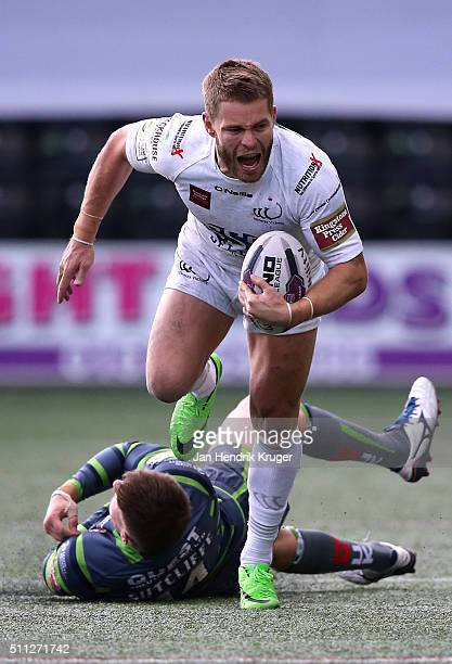 Rhys Hanbury of Widnes Vikings during the First Utility Super League match between Widnes Vikings and Leeds Rhinos at Select Security Stadium on...