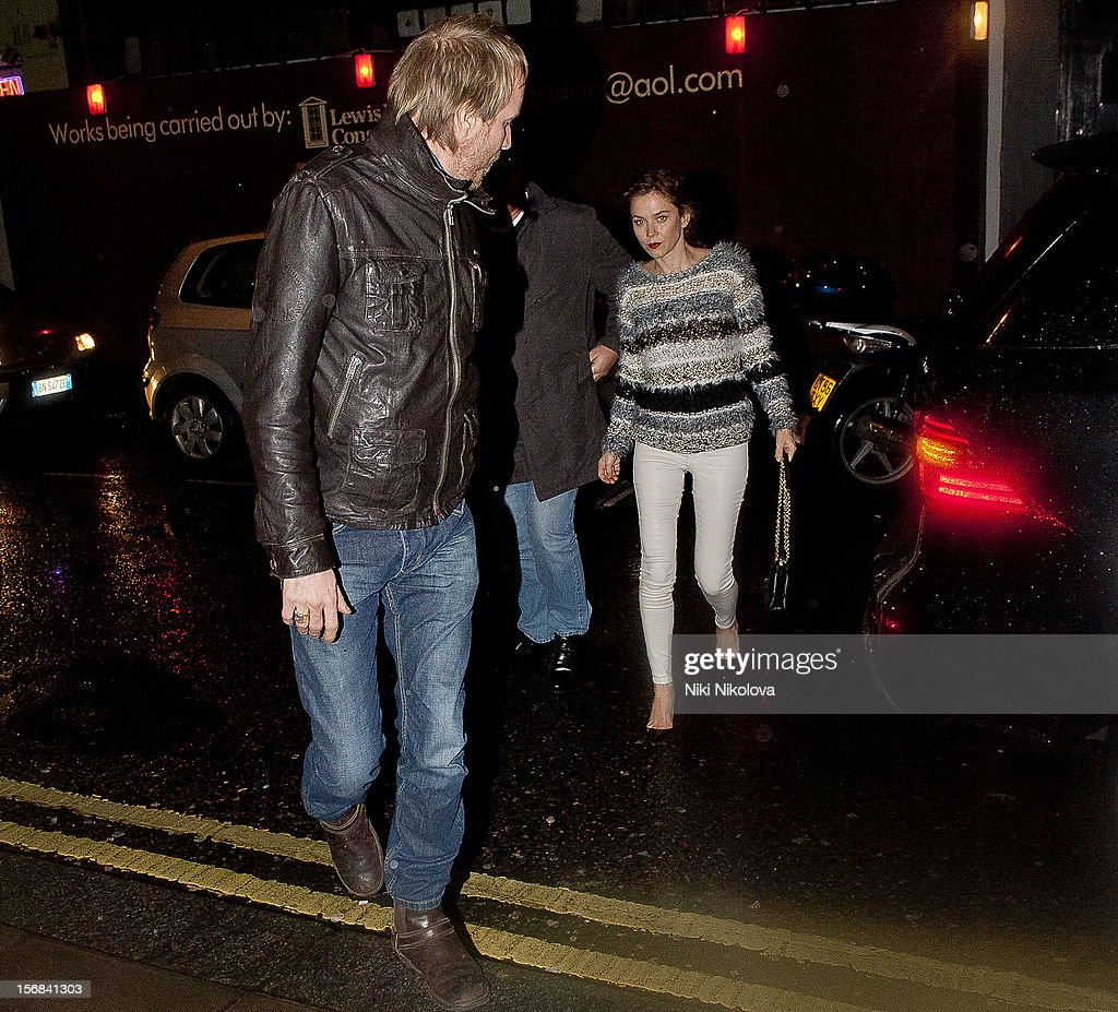 Rhys Ifans and Anna Friel sighting on November 22, 2012 in London, England.