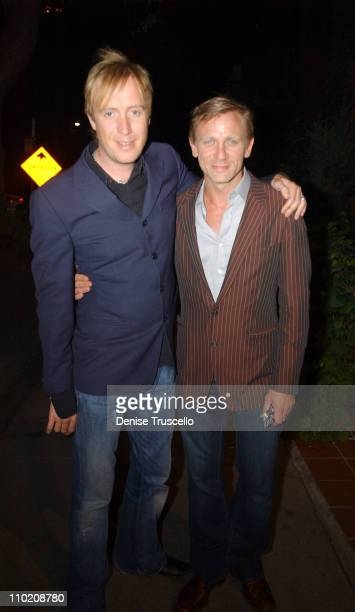 Rhys Ifans and Daniel Craig during 2004 Toronto International Film Festival 'Enduring Love' Cocktail Party at Pangea in Toronto Ontario Canada