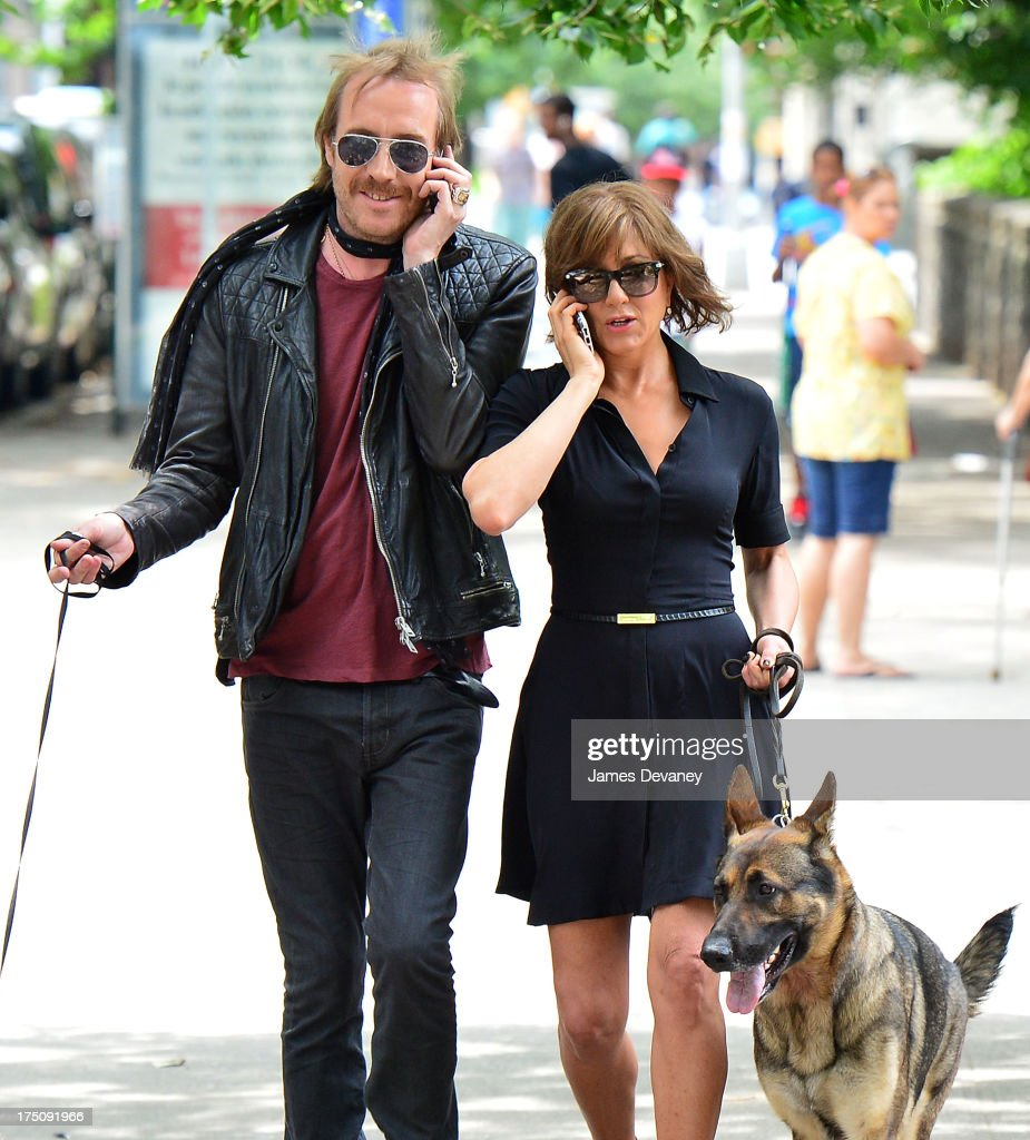 <a gi-track='captionPersonalityLinkClicked' href=/galleries/search?phrase=Rhys+Ifans&family=editorial&specificpeople=204530 ng-click='$event.stopPropagation()'>Rhys Ifans</a> and <a gi-track='captionPersonalityLinkClicked' href=/galleries/search?phrase=Jennifer+Aniston&family=editorial&specificpeople=202048 ng-click='$event.stopPropagation()'>Jennifer Aniston</a> seen on the set of 'Squirrels to the Nuts' on July 31, 2013 in New York City.