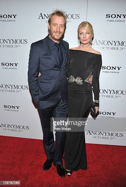 Rhys Ifans and Joely Richardson attend the 'Anonymous' screening at The Museum of Modern Art on October 20 2011 in New York City