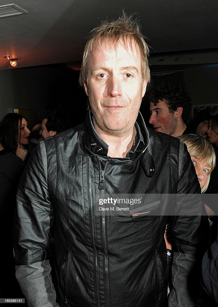 Rhys Ifans attends event planner Paul Rowe's 40th birthday party at The Groucho Club on April 3, 2013 in London, England.
