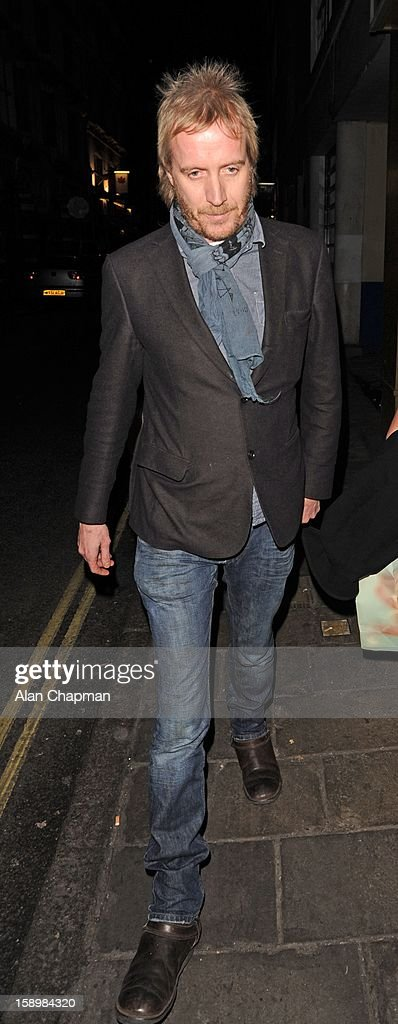 Rhys Ifans seen leaving the Vaudeville Theatre on January 4, 2013 in London, England.
