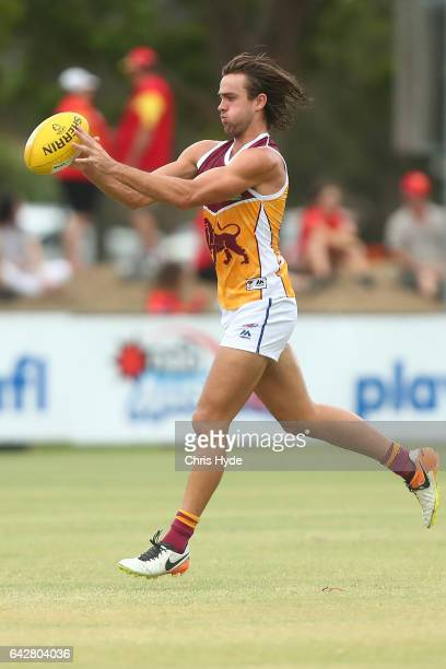 Rhys Mathieson of the Lions warms up before the 2017 JLT Community Series match at Broadbeach Sports Centre on February 19 2017 in Gold Coast...