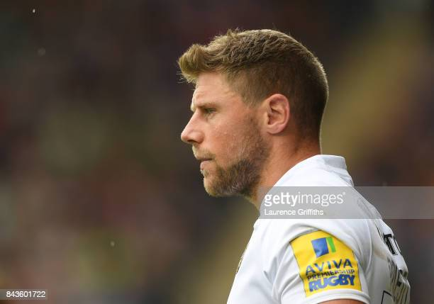 Rhys Priestland of Bath Rugby looks on during the Aviva Premiership match between Leicester Tigers and Bath Rugby at Welford Road on September 3 2017...