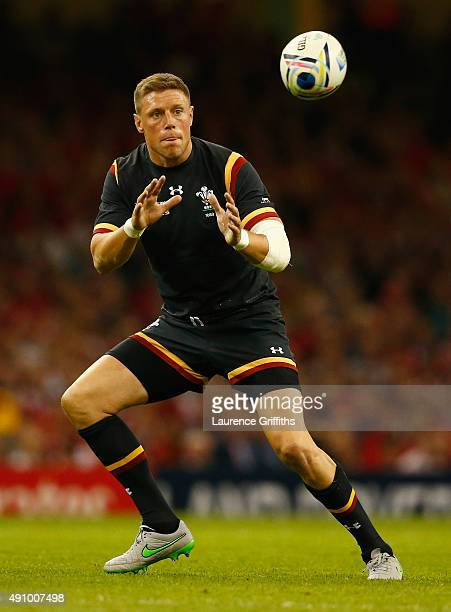 Rhys Priestland of Wales in action during the 2015 Rugby World Cup Pool A match between Wales and Fiji at Millennium Stadium on October 1 2015 in...