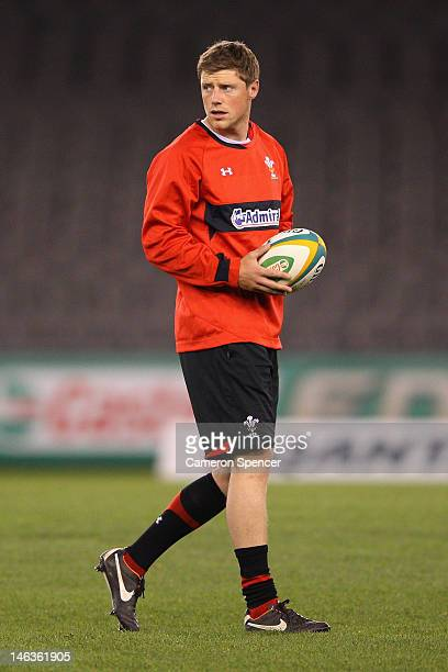 Rhys Priestland of Wales looks on during a Wales rugby captain's run at Etihad Stadium on June 15 2012 in Melbourne Australia