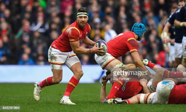 Rhys Webb of Wales in action during the RBS Six Nations match between Scotland and Wales at Murrayfield Stadium on February 25 2017 in Edinburgh...