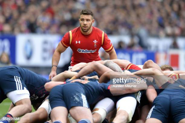 Rhys Webb of Wales reacts during the RBS Six Nations match between France and Wales at Stade de France on March 18 2017 in Paris France