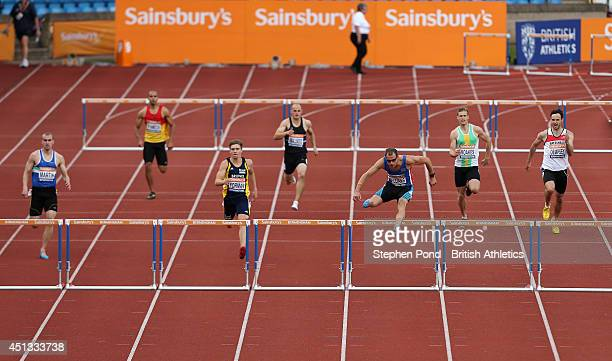 Rhys Williams in action in the heats of the Men's 400m hurdles event during the Sainsbury's British Athletics Championships at Birmingham Alexander...