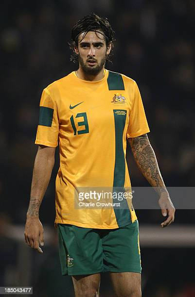 Rhys Williams of Australia during the International Friendly match between Canada and Australia at Craven Cottage on October 15 2013 in London England