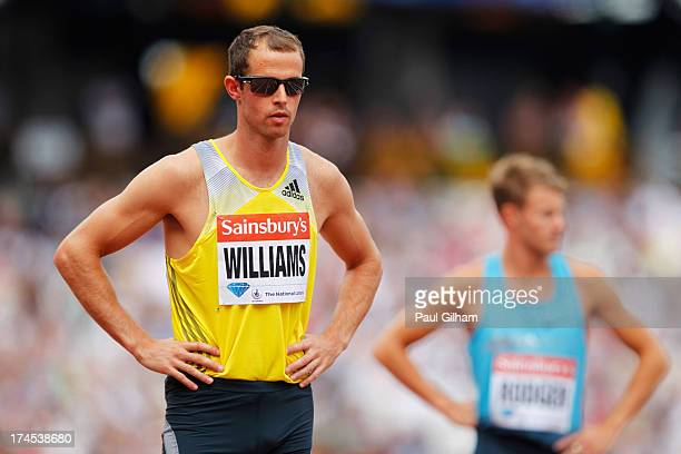 Rhys Williams of Great Britain looks on after competing in the Men's 400m Hurdles during day two of the Sainsbury's Anniversary Games IAAF Diamond...