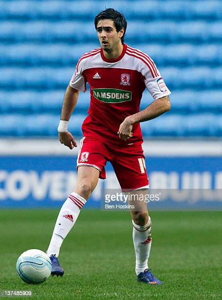 Rhys Williams of Middlesbrough in action during the npower Championship match between Coventry City and Middlesbrough at The Ricoh arena on January...