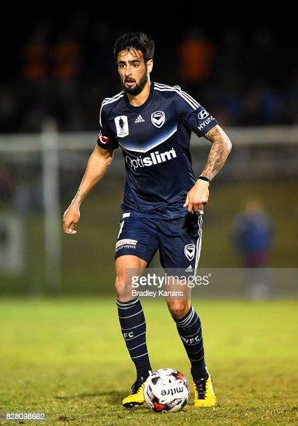 Rhys Williams of the Victory in action during the FFA Cup round of 32 match between the Brisbane Roar and the Melbourne Victory at Perry Park on...